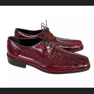 NWOB Mauri 8 M Alligator Crocodile Derby Shoes